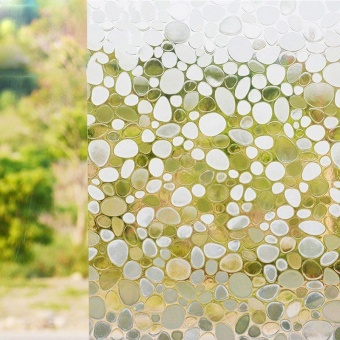 Privacy Window Film Frosted Window Stickers Self Adhesive StaticGlass 100*45cm - intl - 4