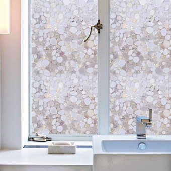 Privacy Window Film Frosted Window Stickers Self Adhesive StaticGlass 100*45cm - intl - 2