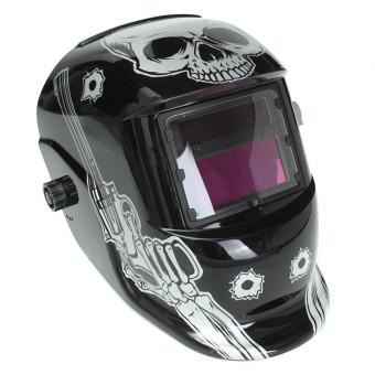 Pro Solar Welder Mask Helmet Electrowelding Auto Darkening Welding Skull Gun intl .