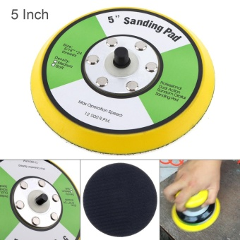 Professional 5 inch 12000RPM Dual Action Random Orbital Sanding Pad for Pneumatic Sanders / Air Polishers - intl