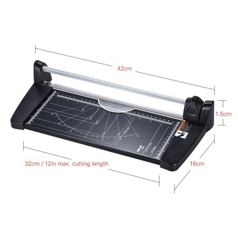 Professional A4 Rotary Paper Trimmer Cutters Guillotine with 10 Sheets Cutting Capacity for School Business Office Supplies - intl - 3