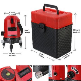 Professional Automatic Self Leveling 5 Line 6 Point 4V1H LaserLevel Measure MM - intl - 3