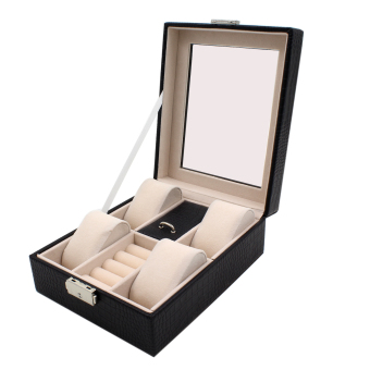 Professional Leather Jewelry Box (Crocs Black-R) Price Philippines