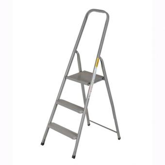 Prostar 2 Step Steel Step Ladder (Silver)