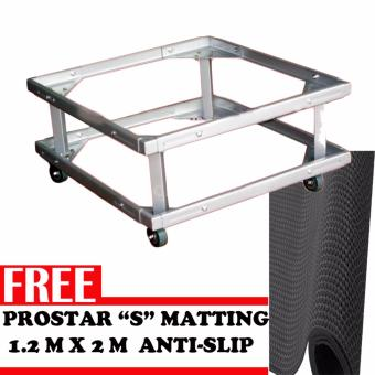 Prostar Lifted Heavy Duty Washing Machine Stand / Ref Stand / withFree Prostar S Matting 1.2 m wide X 1 m long (Grey)