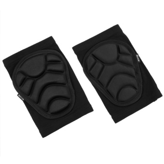 Protective Knee Pads Knee Protecting Kit for Skiing SkatingRiding(Black)-M - intl