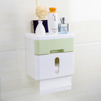 Punched roll tube pumping tray toilet paper box