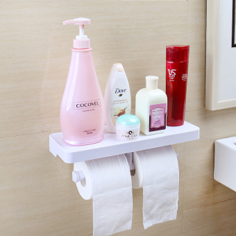 Punched wall hangers-suction toilet shelf