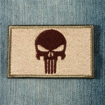 PUNISHER SKULL SWAT OPS ARMY MILITARY TACTICAL MORALE PATCH ARMY GREEN - intl - 3