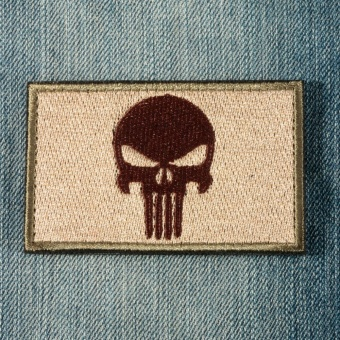 PUNISHER SKULL SWAT OPS ARMY MILITARY TACTICAL MORALE PATCH ARMY GREEN - intl