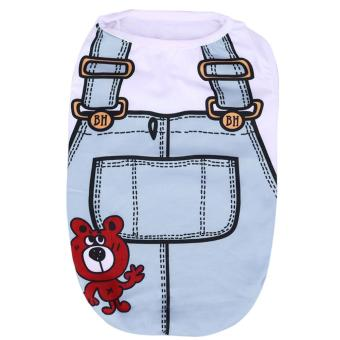 Puppy Vest Shirts Pet Dog Funny Costumes Spring Cloth(Blue)-XS -intl