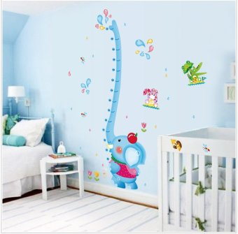 PVC Wall Sticker Elephant Height Measurement (Single Sticker)