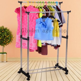 Quality Double Pole Telescopic Clothes Rack
