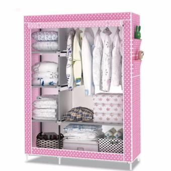 Quality Multifunction Fashion Cloth Wardrobe (Pink)