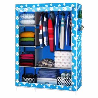 Quality Multifunction Fashion Cloth Wardrobe (Sky Blue)