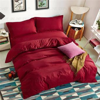 Quality Queen Size 4 Piece Bedsheet Sets (Maroon)