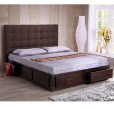 queen bed herry with 6 drawers 60x75