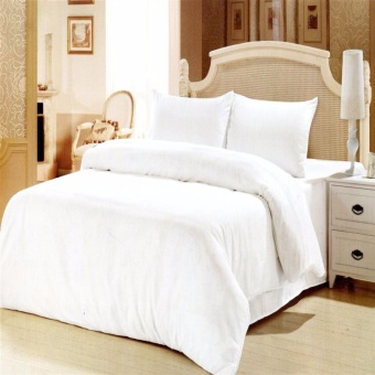 Queen Specials Linen Collection Flat Sheet Set of 3(White)Twin(Single)