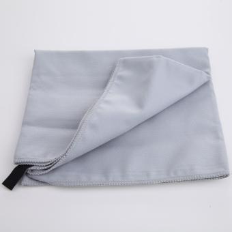 Quick-Dry Travel Camping Microfiber Towels Sport Swimming BeachEssential (Light Grey) - Intl - 3