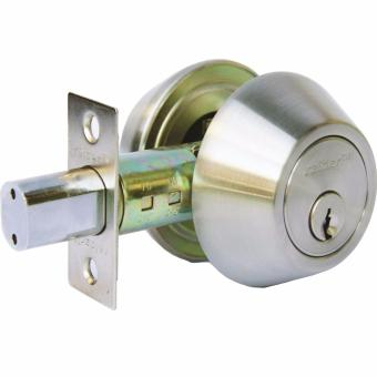 Raider Deadbolt Double Cylinder Security Locks Silver