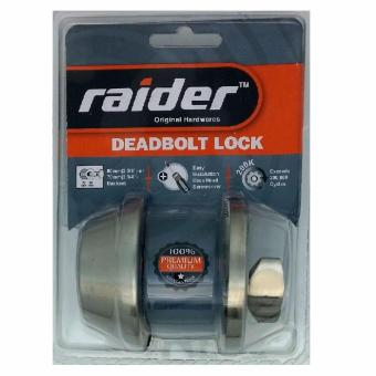 Raider Deadbolt Single Cylinder Stainless Steel