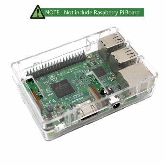 Raspberry Pi Clear Protective Case for Raspberry Pi 3 Model B, Pi 2Model B & Pi Model B+ with 2x Heatsinks - intl - 2
