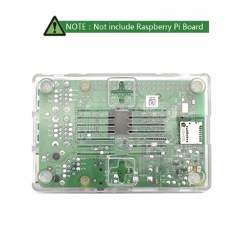 Raspberry Pi Clear Protective Case for Raspberry Pi 3 Model B, Pi 2Model B & Pi Model B+ with 2x Heatsinks - intl - 4