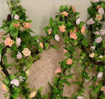 Rattan artificial flowers model rose flower
