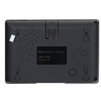 Realand A - C081 TFT Fingerprint Time Attendance Clock Employee Payroll Recorder US Plug (Black) - intl - 3