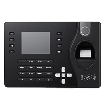 Realand A - C081 TFT Fingerprint Time Attendance Clock Employee Payroll Recorder US Plug (Black) - intl - 2