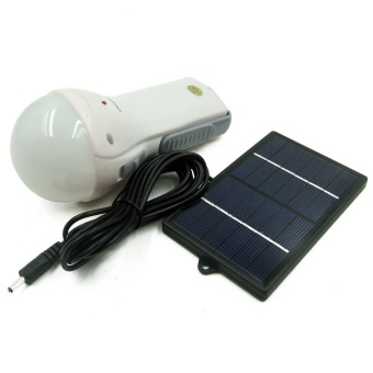 Rechargeable LED Flashlight Bulb w/ Solar Panel