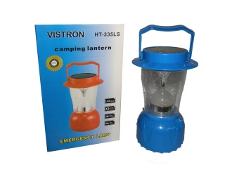 Rechargeable Led Lamp with Solar Panel HT-335LS (Blue)
