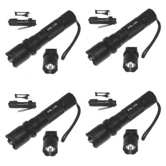 Rechargeable Police Flashlight with Stun Gun Taser Set of 4 (Black) - picture 2