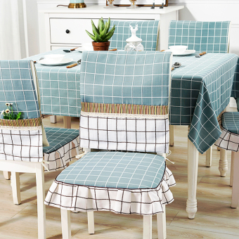 Rectangular plaid table cloth fabric