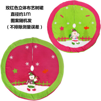 Red Christmas tree decoration Christmas Tree Skirt Christmas tree base apron