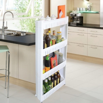 Refrigerator gap storage rack finishing kitchen shelving rack storage rack