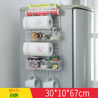 Refrigerator hanging side multifunction shelf wall hangers rack