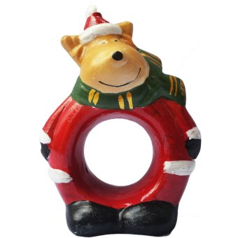 Reindeer Santa Claus Napkin Ring / Tissue Holder for table setting Figurine for the Holiday (Made of Fiberglass Resin) by Everything About Santa (Christmas decoration and gift suggestion) - picture 2
