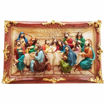 Religious Item Last Supper Scene 3D Frame Style 40 CM for Wall andTable Top Jesus Christ with Twelve Apostles (Made of FiberglassResin) by Everything About Santa (Christmas decoration and giftsuggestion)