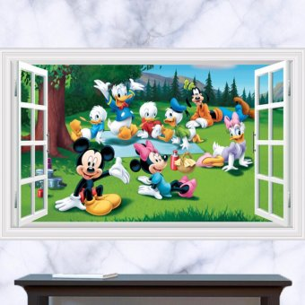 Removable Disney Mickey Minnie Mouse 3D Window Kid Wall Sticker ArtDecal - intl