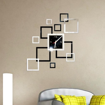 Removable Diy Acrylic 3D Mirror Wall Sticker Decorative Clock -intl - 5