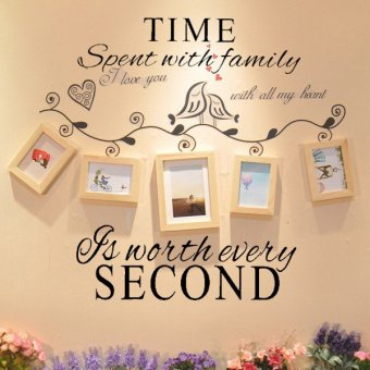 Removable Room Home Sticker English Art Word Wall Decal Decor Design PVC Time