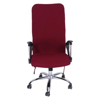 Removable Stretchy Swivel Chair Covers Office Armchair Soft ...