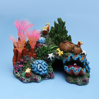 Resin Mounted Coral Reef Sucker Fish Tank Cave Aquarium Decoration Price Philippines