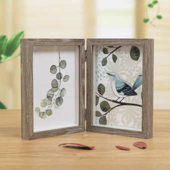 Retro double-sided folding studio Photo Frame Wooden frame