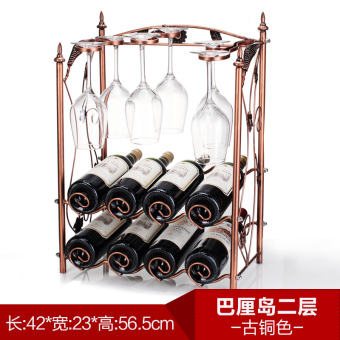 Retro hanging tall cup bar wine rack wine cup holder