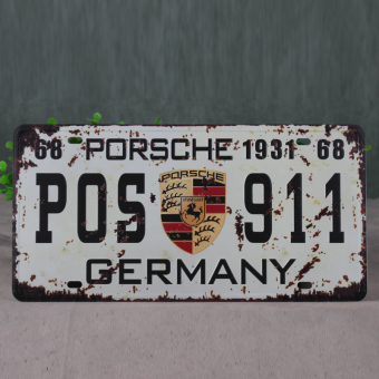 Retro license plate combination restaurant wall hangers metal painting