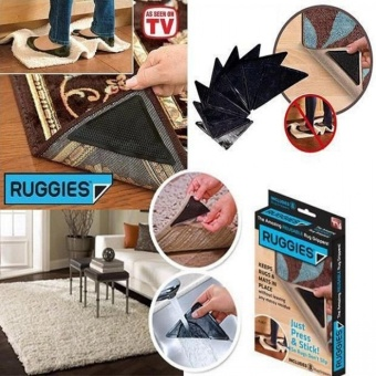 Reusable Ruggies Rug Grippers (Black)