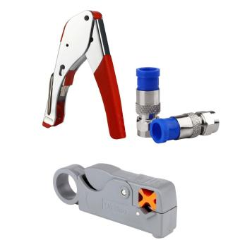 RG6/RG59 Compression F Connector Tool Cable Stripper - intl