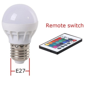 RGB LED Light Bulb - Color Changing with Remote Control,3W-E27-B50 - intl - 4
